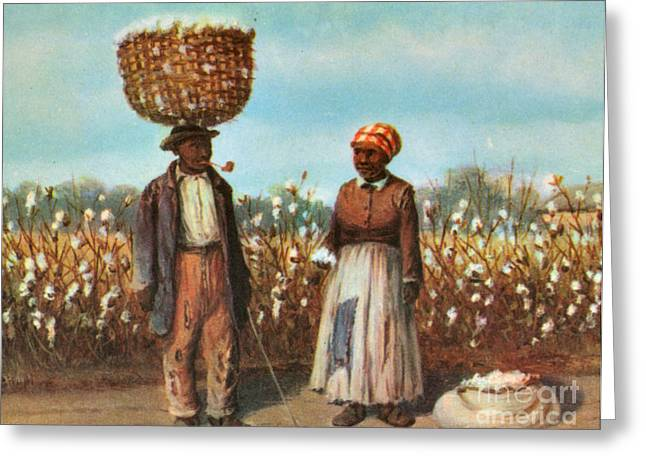 Sharecroppers, 19th Century Greeting Card by Photo Researchers