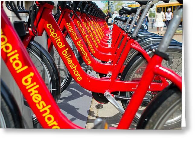 Shared Bikes Greeting Card by Dan Wells