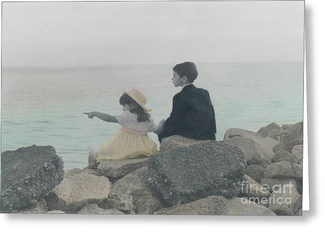 Greeting Card featuring the photograph Sharing by Lori Mellen-Pagliaro