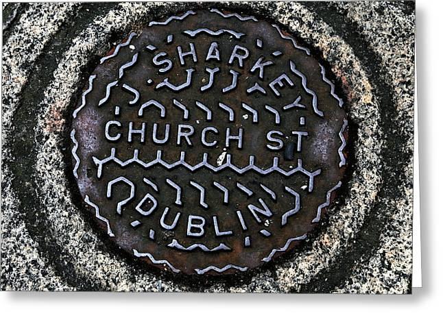Sharkey Church Street Greeting Card by John Rizzuto