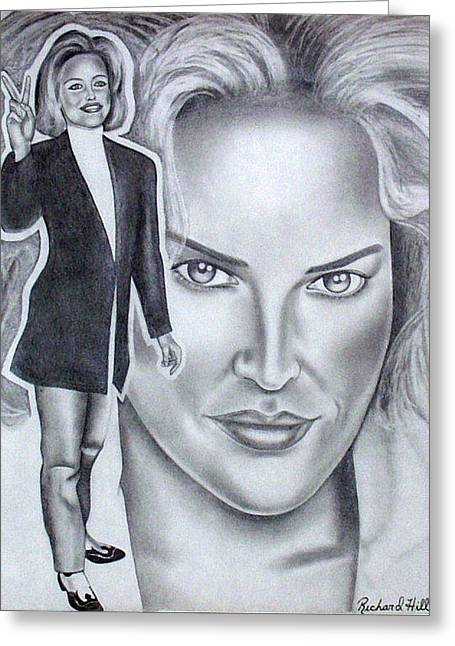 Sharon Stone Greeting Card by Rick Hill