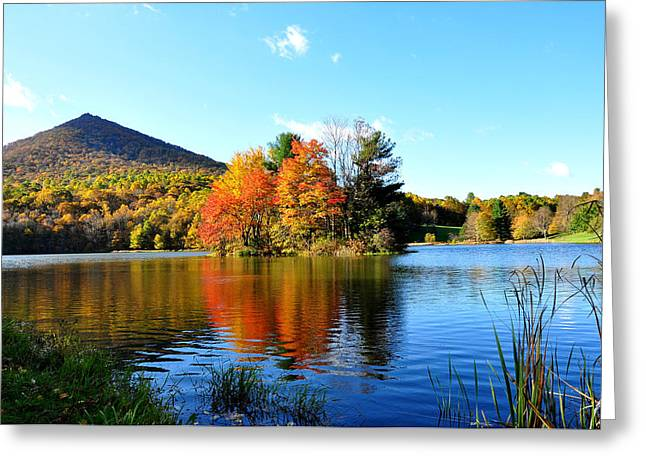 Sharp Top Mountain Greeting Card by Todd Hostetter