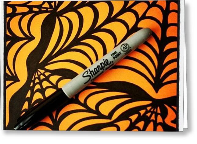 @sharpie #sharpie #halloween #abstract Greeting Card
