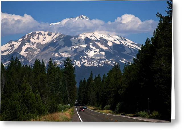 Shasta On The Road Again Greeting Card by BuffaloWorks Photography