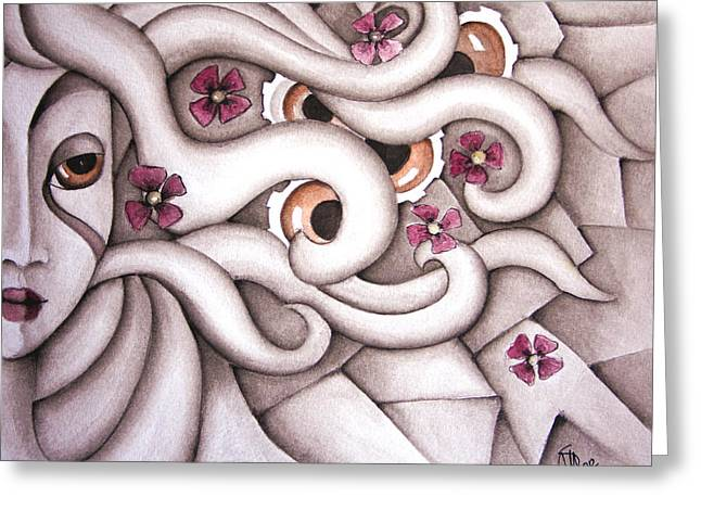 She Listened At Last Greeting Card by Simona  Mereu