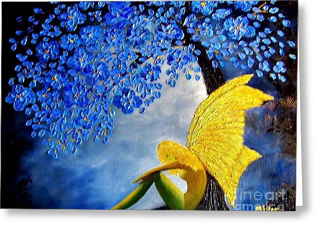 She Rests Greeting Card by Peggy Miller