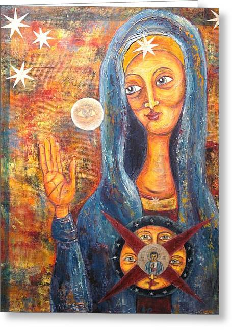 She Sees And Blesses All Greeting Card by Suzan  Sommers