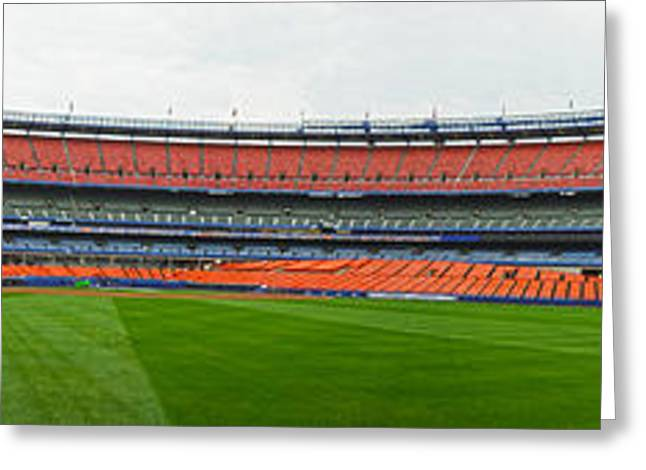 Shea Stadium Pano Greeting Card by Dennis Clark