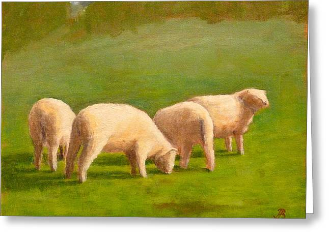 Sheep Shapes Greeting Card