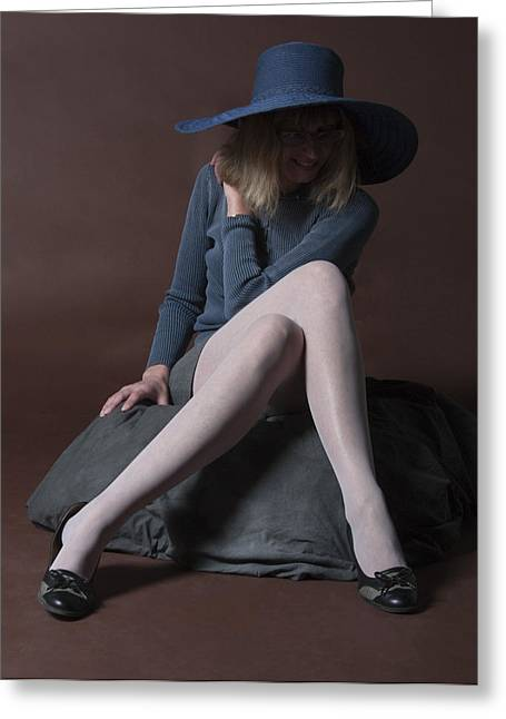 Greeting Card featuring the photograph Sheer Leggs by Irina ArchAngelSkaya