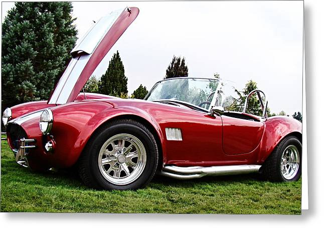Shelby Cobra Greeting Card by Nick Kloepping