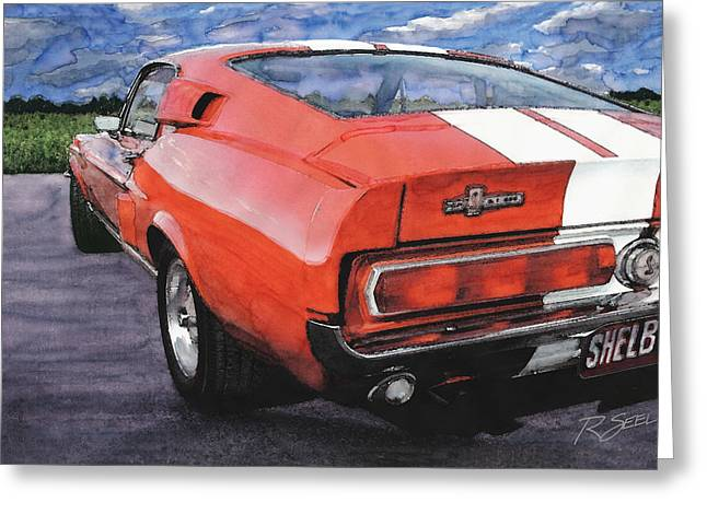 Shelby Gt500 Greeting Card by Rod Seel