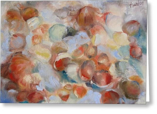 Shell Impression I Greeting Card by Susan Hanlon