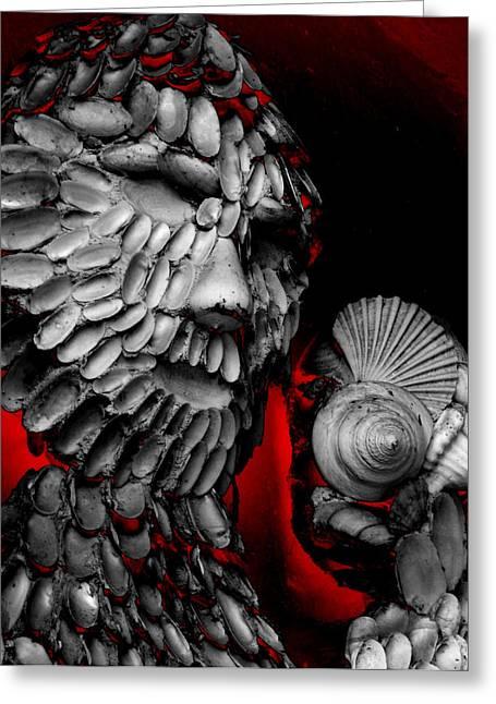 Shell Man Greeting Card by Lori Seaman