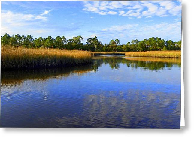 Shell Mound Reflection  Greeting Card by Sheri McLeroy