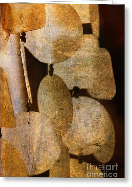 Shell Wind Chimes Greeting Card by Susanne Van Hulst