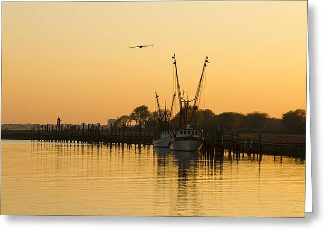 Greeting Card featuring the photograph Shem Creek by Carrie Cranwill