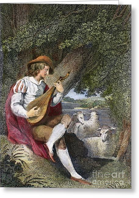 Shepherd Greeting Card by Granger