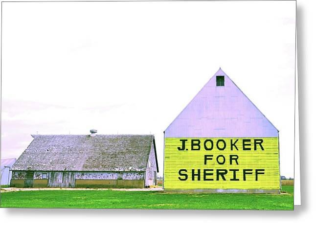 Sheriff Booker And Take Her Away Greeting Card by Daniel Ness