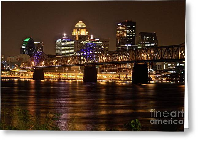 Sherman Minton Bridge Greeting Card by Joe Finney