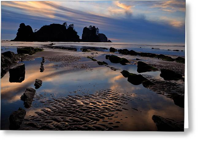 Shi Shi Beach At Sunset Greeting Card by Alvin Kroon