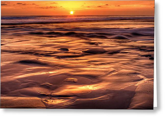 Shifting Sand And Shoreline Greeting Card by Donna Pagakis