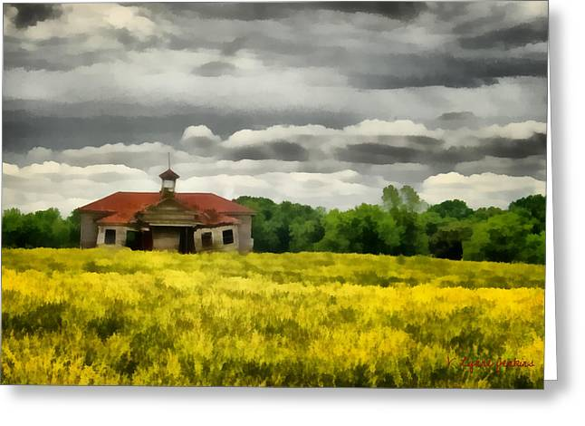 Shiloh School Greeting Card by Lynne Jenkins