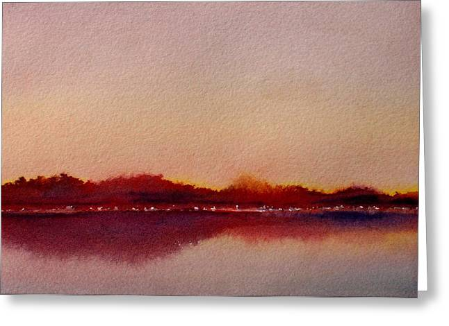 Greeting Card featuring the painting Shimmering Lights by Vikki Bouffard
