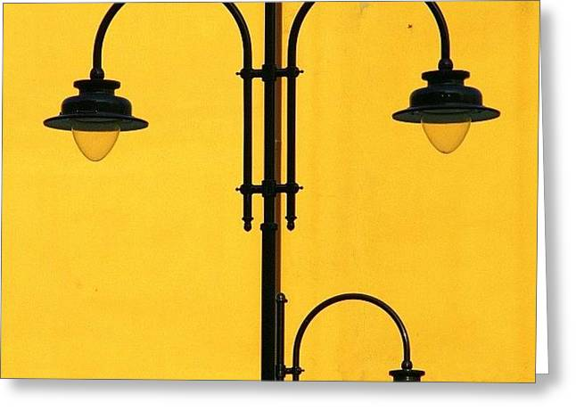 Shine On.. #italy #lamppost Greeting Card by A Rey