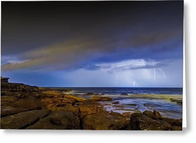 Shining Strom Greeting Card by Mark Lucey