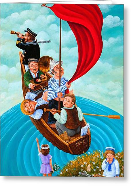 Ship Of Fools Greeting Card by Igor Postash