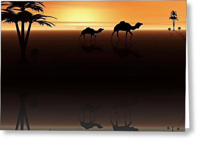 Ships Of The Desert Greeting Card