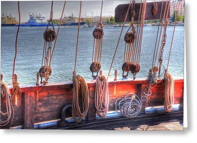 Shipshape Greeting Card by Barry R Jones Jr