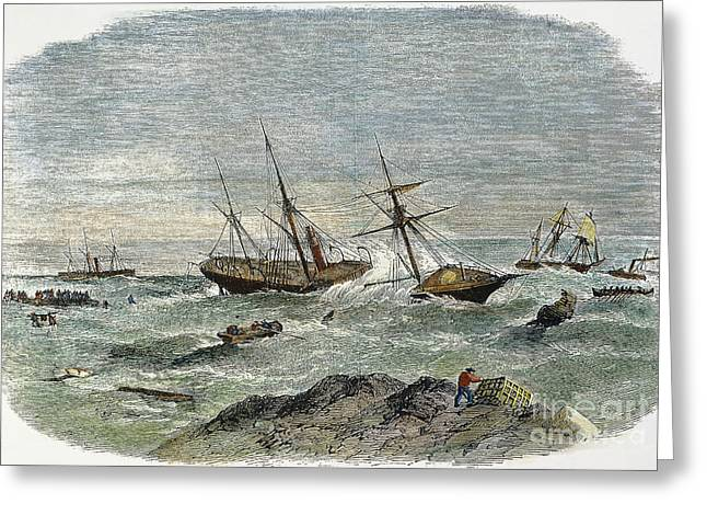 Shipwreck, 19th Century Greeting Card by Granger