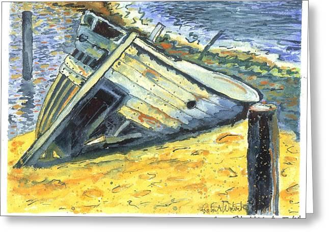 Shipwreck On Laguna Madre II Greeting Card by Robert Wolverton Jr
