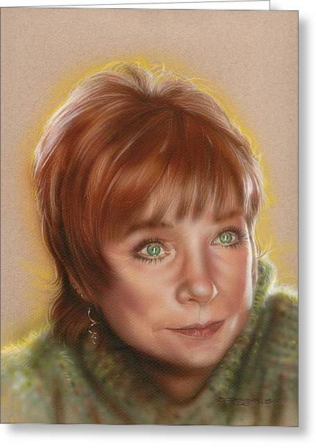 Shirley Greeting Card by Timothy Scoggins
