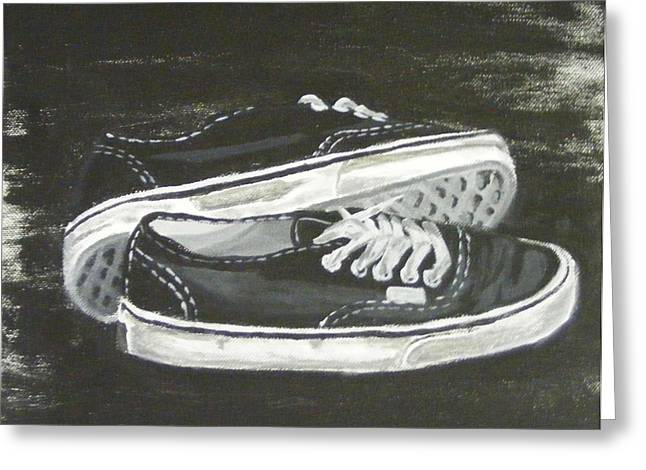 Shoes Greeting Card by Laura Evans