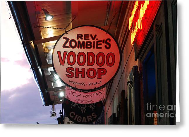 Shop Signs French Quarter New Orleans Greeting Card by Shawn O'Brien