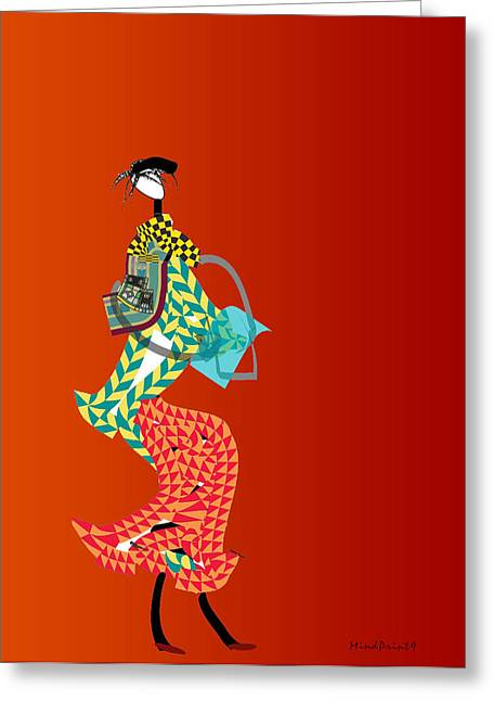 Shopper Greeting Card by Asok Mukhopadhyay