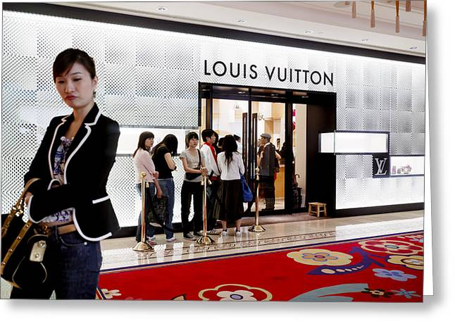 Shoppers Await Entry Into The Louis Greeting Card