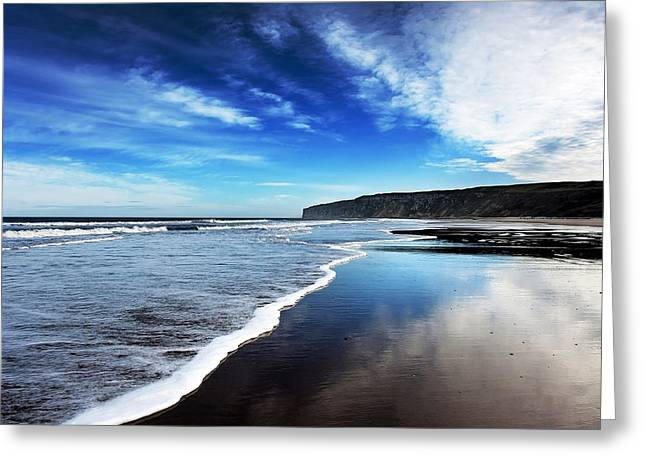 Shoreline Greeting Card by Svetlana Sewell