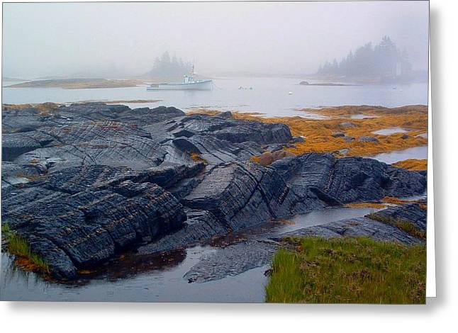 Shorelines Bluerocks Lunenburg Nova Scotia Greeting Card