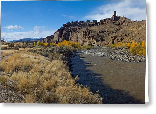 Shoshone River Near Yellowstone Greeting Card by Twenty Two North Photography