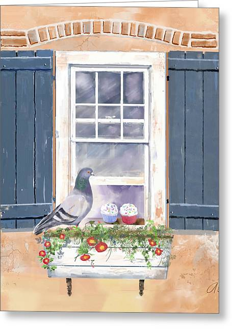 Should I Or Shouldn't I... Greeting Card by Arline Wagner