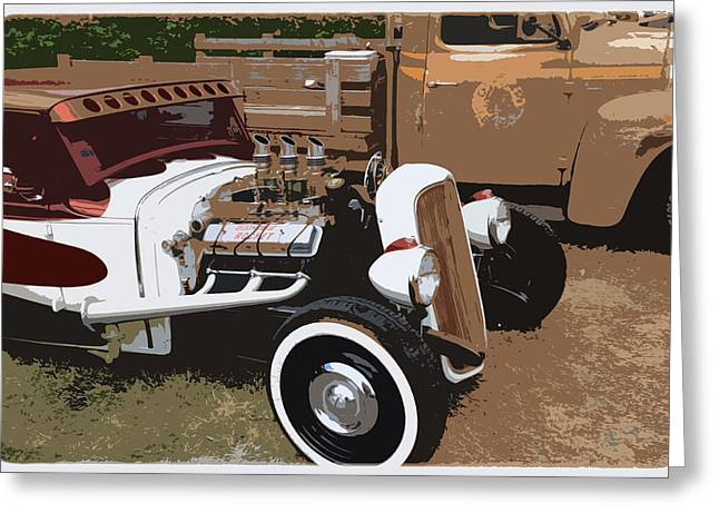 Show Cars Greeting Card