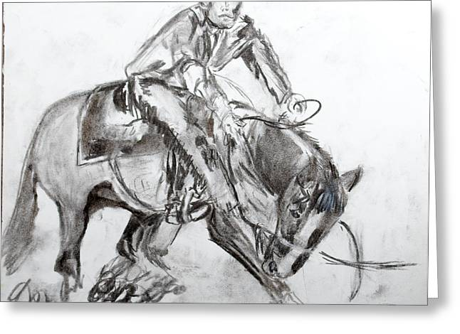 Greeting Card featuring the drawing Showing To Sell II by Jim  Arnold