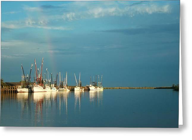 Shrimp Boats In Darien 2 Greeting Card