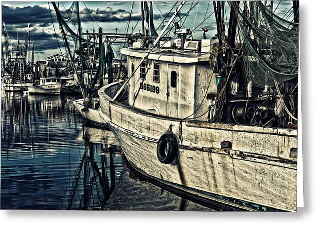 Shrimpers Greeting Card by Denis Lemay