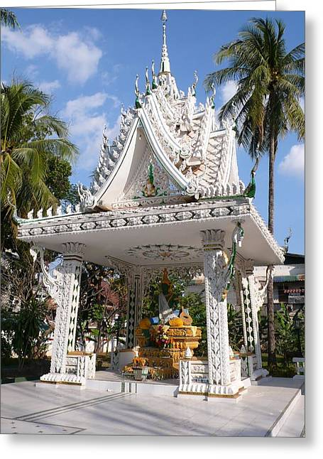 Shrine At Wat Inpeng Greeting Card by Gregory Smith