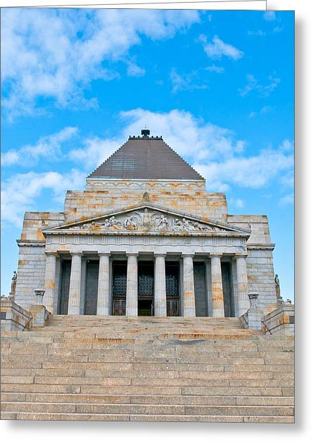 Shrine Of Rememberence Greeting Card by Paul Donohoe